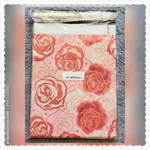 25 (10x13) Red & Pink Roses Designer Poly Mailers